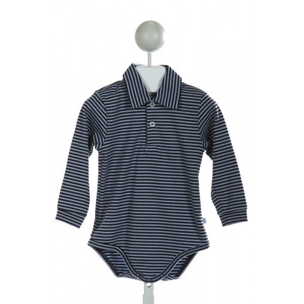 BELLA BLISS  LT BLUE  STRIPED  LAYETTE