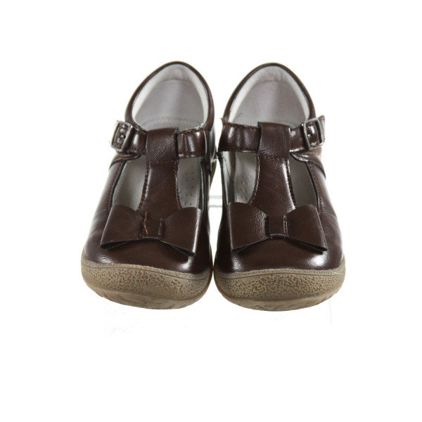 ANGELS BROWN SHOES WITH BOWS *SIZE TODDLER 9, VGU - VERY LIGHT WEAR