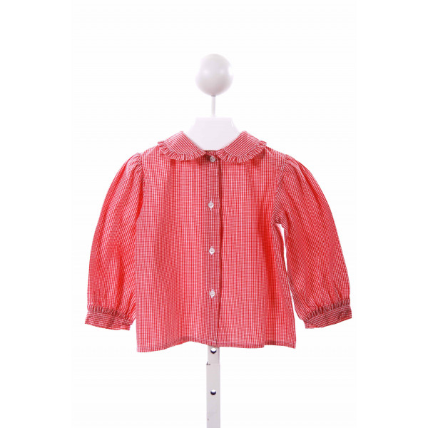 THE PLANTATION SHOP  RED  GINGHAM  CLOTH LS SHIRT