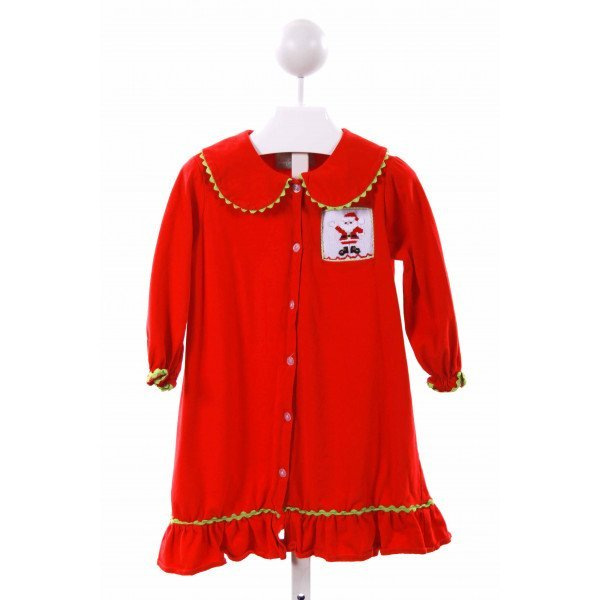 SAGE & LILLY  RED   SMOCKED CASUAL DRESS
