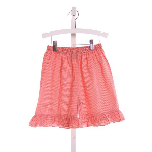 THE SMOCKING BUG  RED  GINGHAM  SHORTS WITH RUFFLE