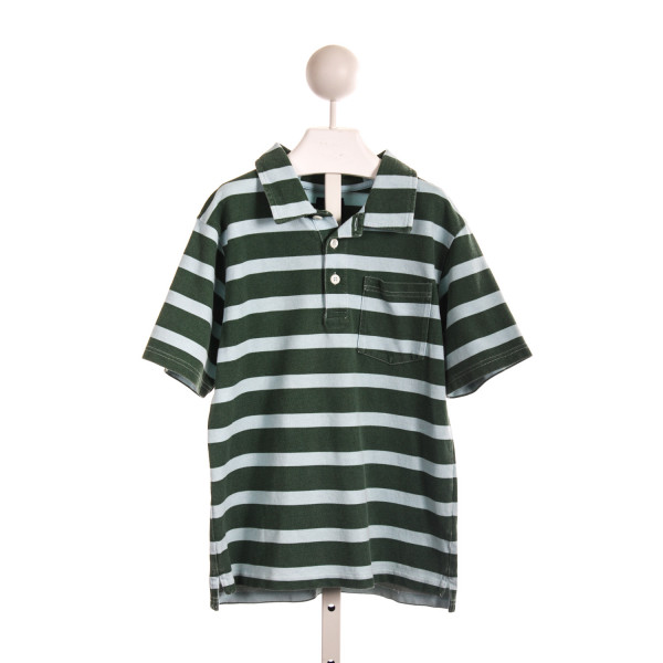 MINI BODEN GREEN AND BLUE STRIPED POLO *NO SIZE TAG, BUT RUNS LIKE A 7/8