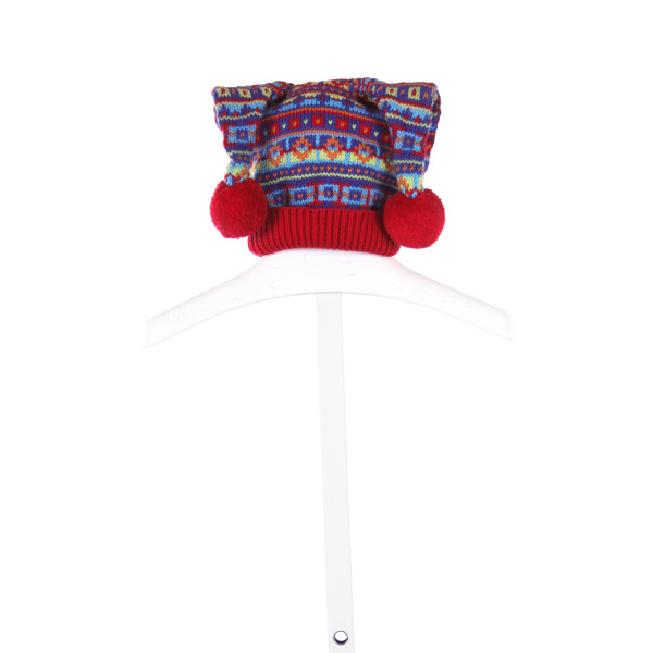 HANNA ANDERSSON RED, BLUE AND YELLOW SWEATER TOBOGGAN *SIZE XS=3-12M