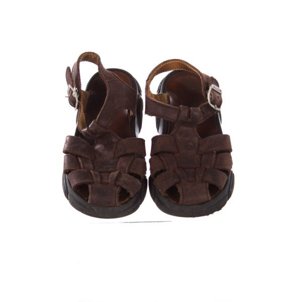 ASTER BROWN SUEDE FISHERMAN SANDALS TODDLER SIZE 10.5 *EU SIZE 27