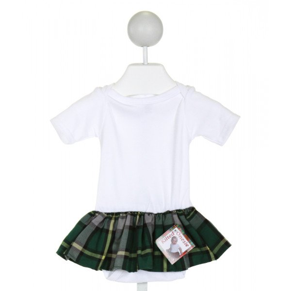 TARTAN TOTS  OFF-WHITE  PLAID  LAYETTE WITH RUFFLE