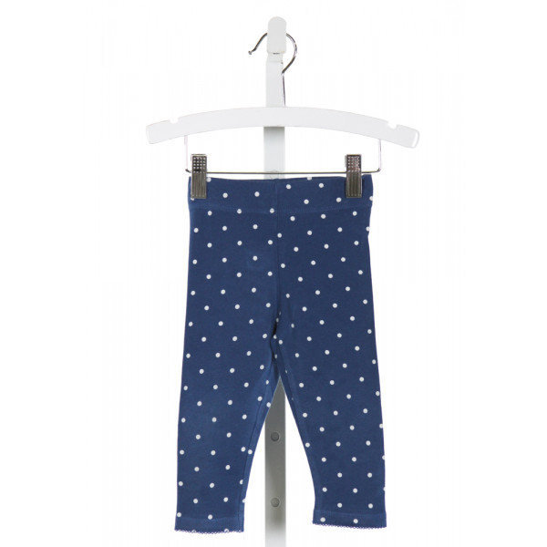 BABY BODEN  BLUE   PRINTED DESIGN PANTS WITH PICOT STITCHING