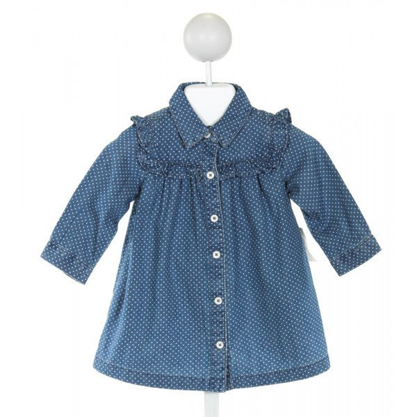 GAP  BLUE  POLKA DOT  DRESS WITH RUFFLE