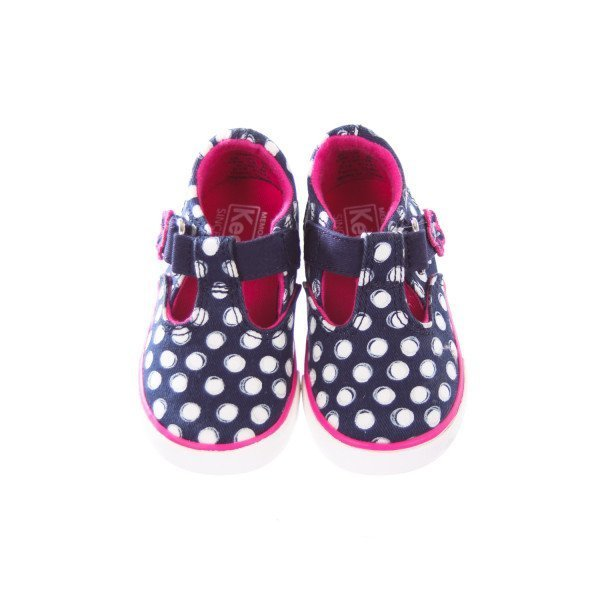 KEDS NAVY AND WHITE POLKA DOT SHOES TODDLER SIZE 4.5