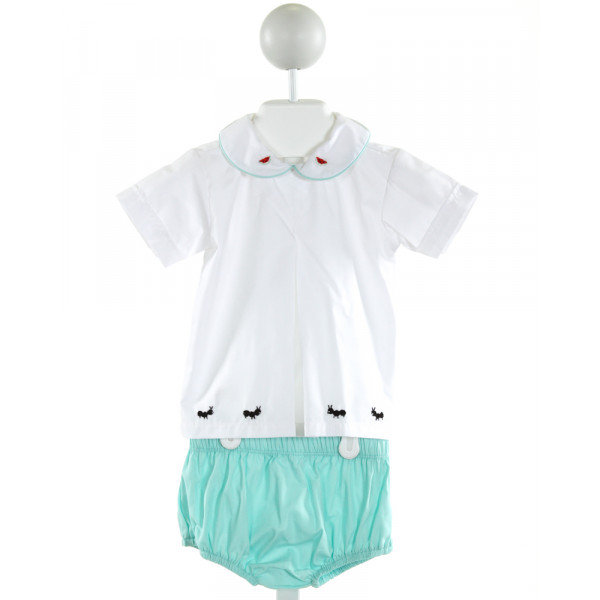 BENOIT & MATISSE  WHITE   EMBROIDERED 2-PIECE OUTFIT