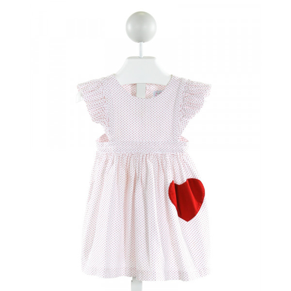MARY & GRACE  OFF-WHITE  POLKA DOT  DRESS WITH RUFFLE