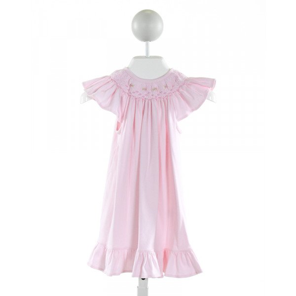 HUG ME FIRST  LT PINK   SMOCKED KNIT DRESS