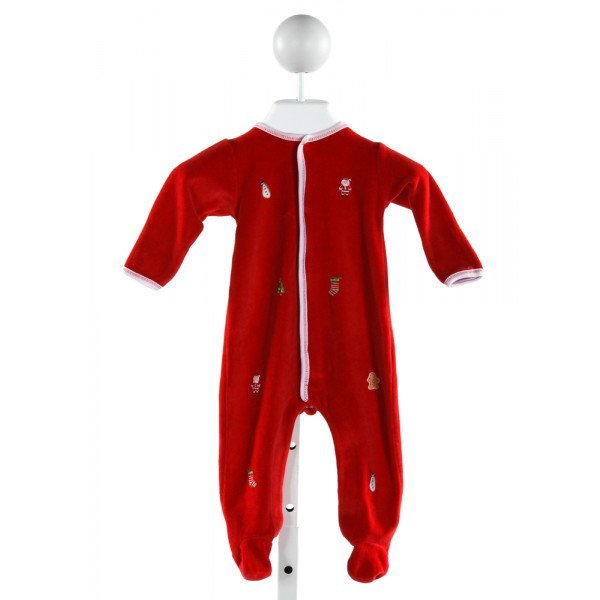 MAGNOLIA BABY  RED VELVET  EMBROIDERED LAYETTE