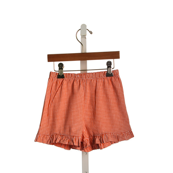 DOLCE GIRL ORANGE GINGHAM SHORTS
