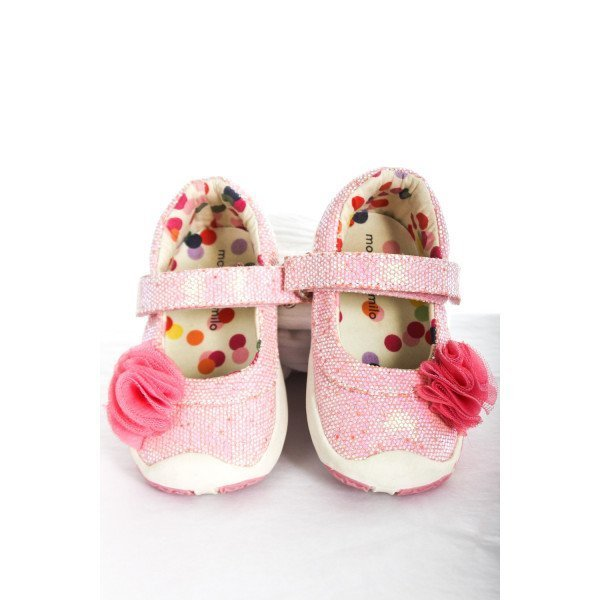MORGAN & MILO PINK SPARKLY SHOES TODDLER SIZE 4.5