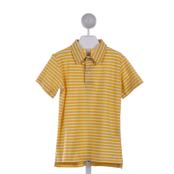 KELLY'S KIDS  BRIGHT YELLOW  STRIPED  KNIT SS SHIRT