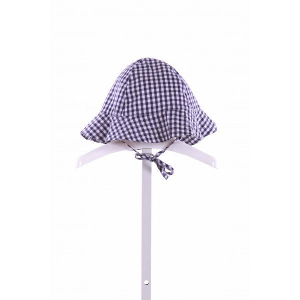 BELLA BLISS  NAVY  GINGHAM  ACCESSORIES - HEADWEAR