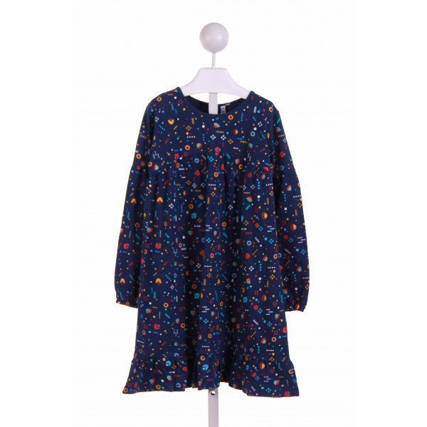 CR KIDS  BLUE   PRINTED DESIGN CASUAL DRESS