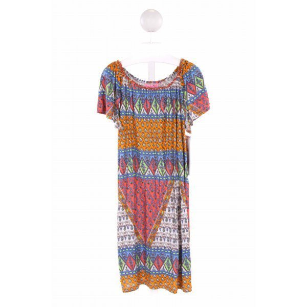 HAVEN GIRL  MULTI-COLOR   PRINTED DESIGN KNIT DRESS