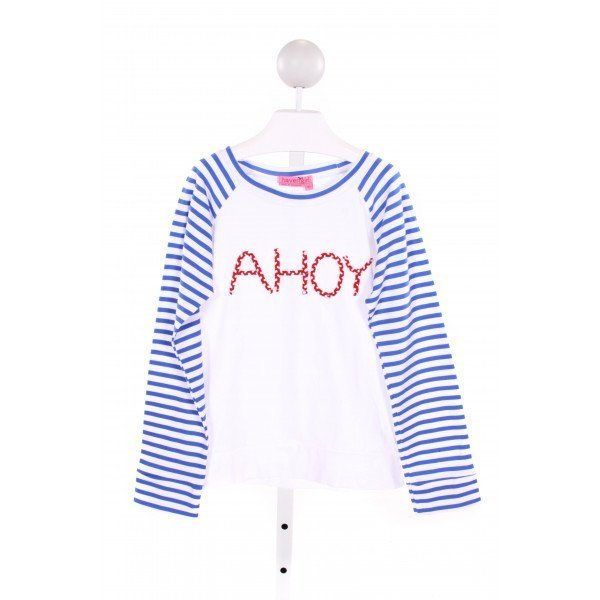 HAVEN GIRL  MULTI-COLOR  STRIPED EMBROIDERED KNIT LS SHIRT
