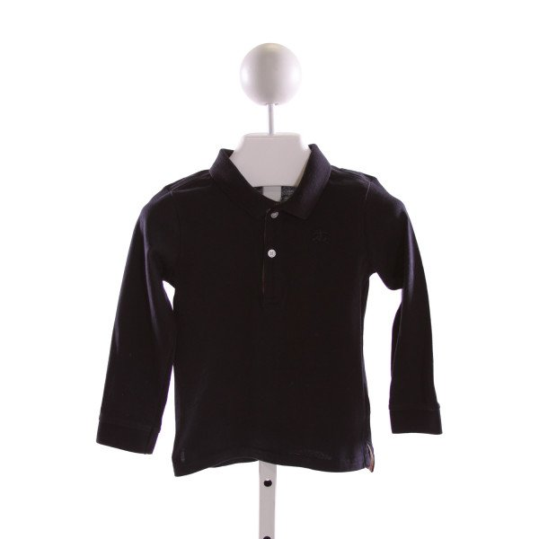 BURBERRY  NAVY    KNIT LS SHIRT