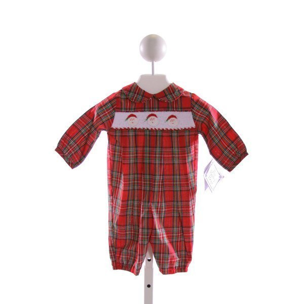 BAILEY BOYS  MULTI-COLOR  PLAID SMOCKED LONGALL/ROMPER