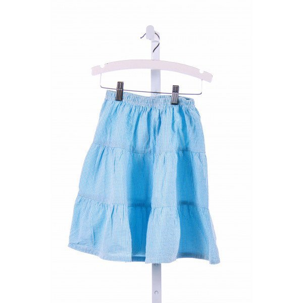 BLOOM  AQUA  GINGHAM  SKIRT