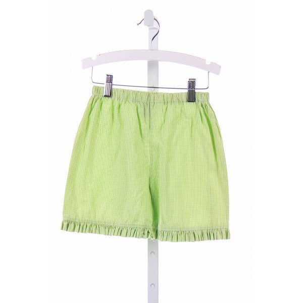 BLOOM  GREEN  GINGHAM  SHORTS WITH RUFFLE