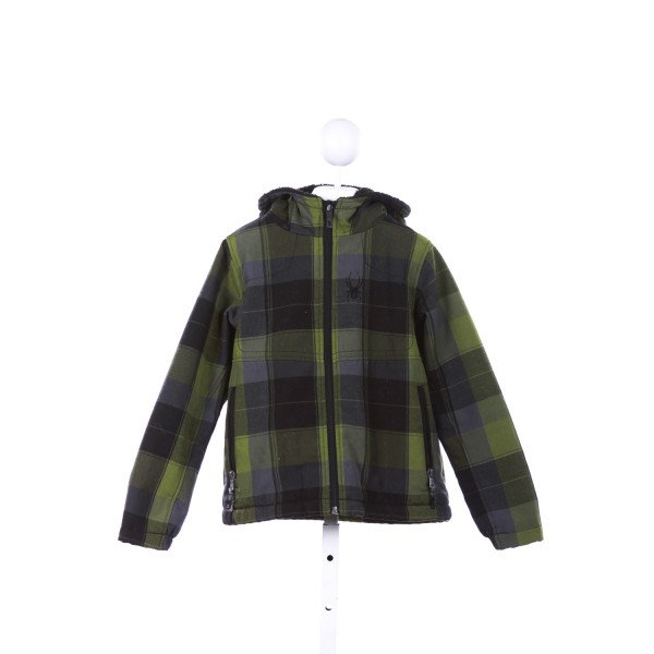 SPYDER  GREEN  PLAID  OUTERWEAR
