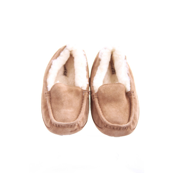 UGG TAN SUEDE AND FUR SLIPPERS *EUC