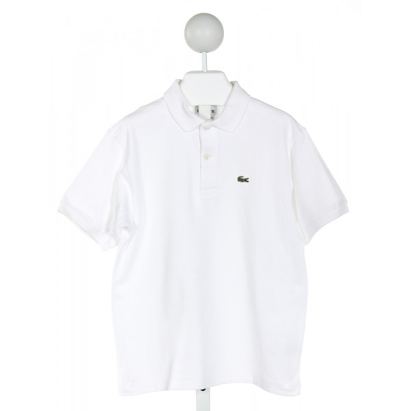 LACOSTE  OFF-WHITE    CLOTH SS SHIRT