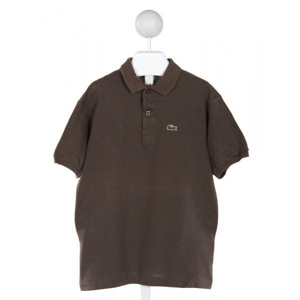 LACOSTE  BROWN    CLOTH SS SHIRT