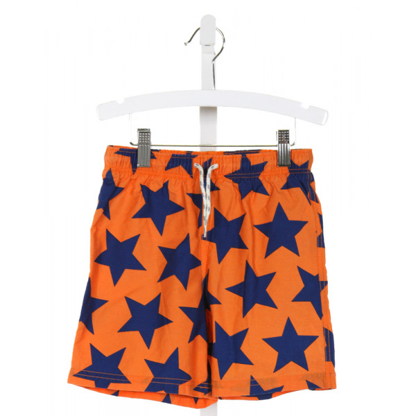 MINI BODEN  ORANGE   PRINTED DESIGN SWIM TRUNKS