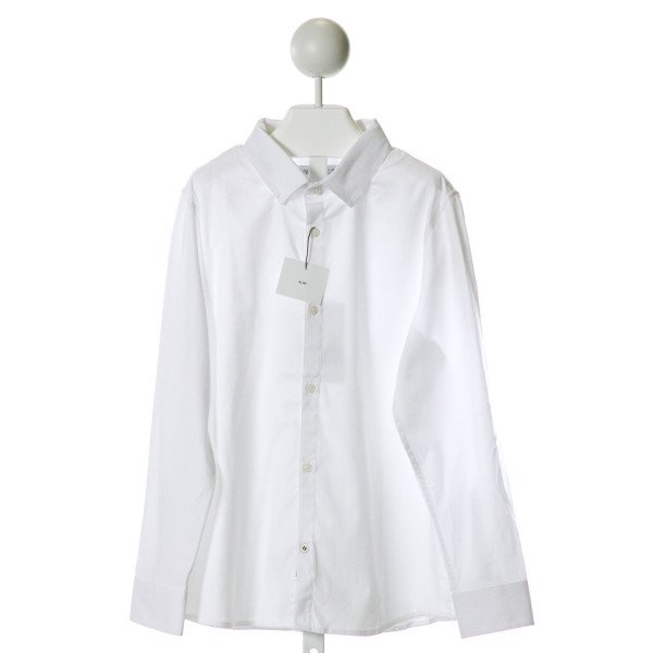ZARA  WHITE    CLOTH LS SHIRT