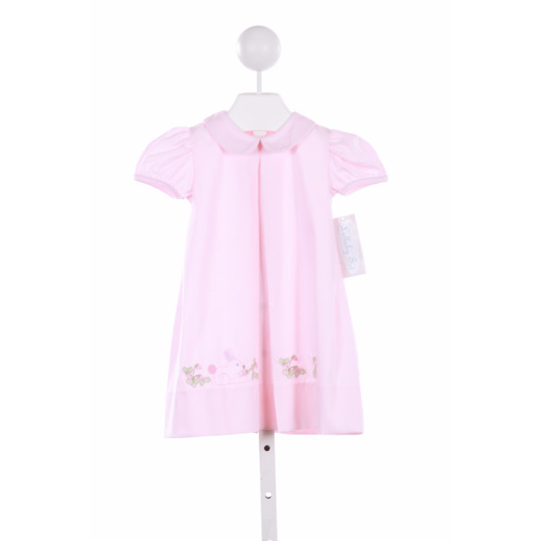 LULLABY SET  PINK   EMBROIDERED CASUAL DRESS