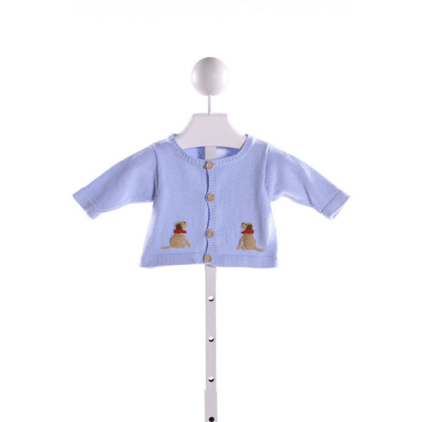 LITTLE ENGLISH  LT BLUE   EMBROIDERED SWEATER