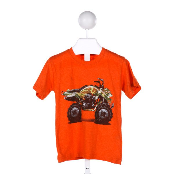 WES AND WILLY  ORANGE   PRINTED DESIGN KNIT SS SHIRT