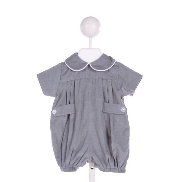LULLABY SET  GRAY CORDUROY   JOHN JOHN/ SHORTALL