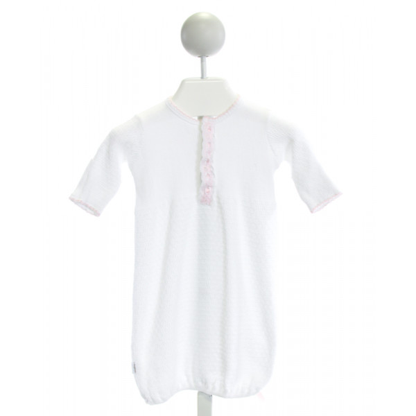 PATY, INC  WHITE   SMOCKED LAYETTE WITH PICOT STITCHING
