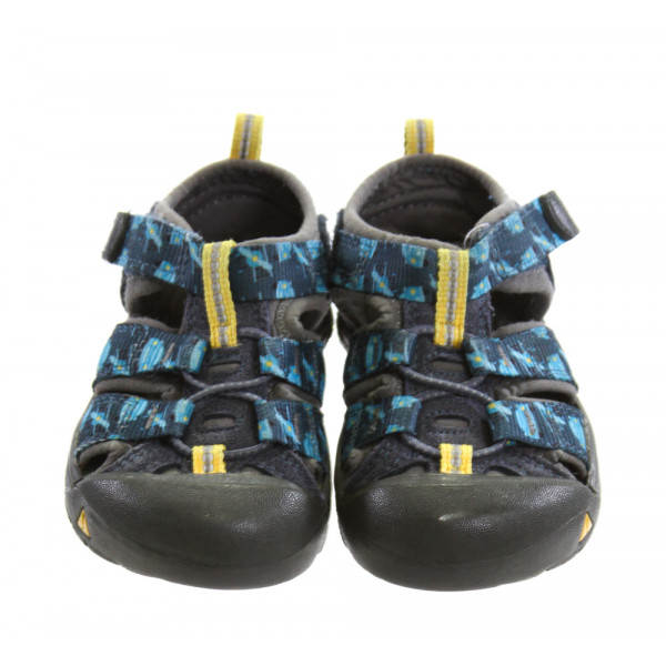 KEEN BLUE SHOES *SIZE 6, VGU - A COUPLE PINPOINT SPOTS OF DISCOLORATION