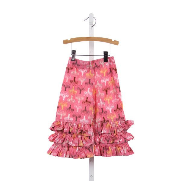 NAIN & JOE PINK CHANDELIER RUFFLE PANTS