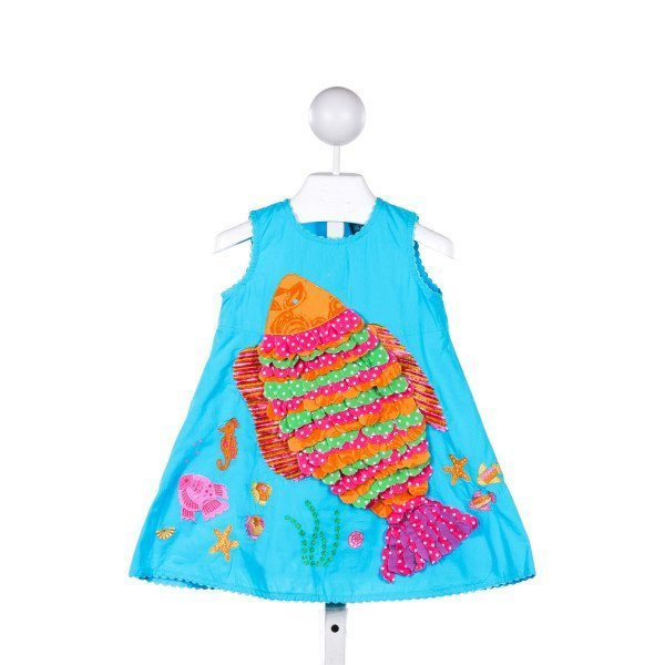 COTTON KIDS  BLUE    CASUAL DRESS