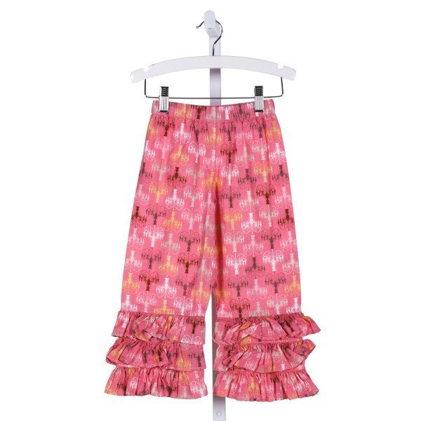 NAIN & JOE  MULTI-COLOR   PRINTED DESIGN PANTS WITH RUFFLE