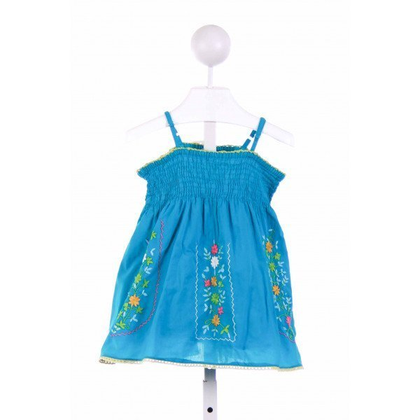 MIMI AND MAGGIE  BLUE   SMOCKED CASUAL DRESS