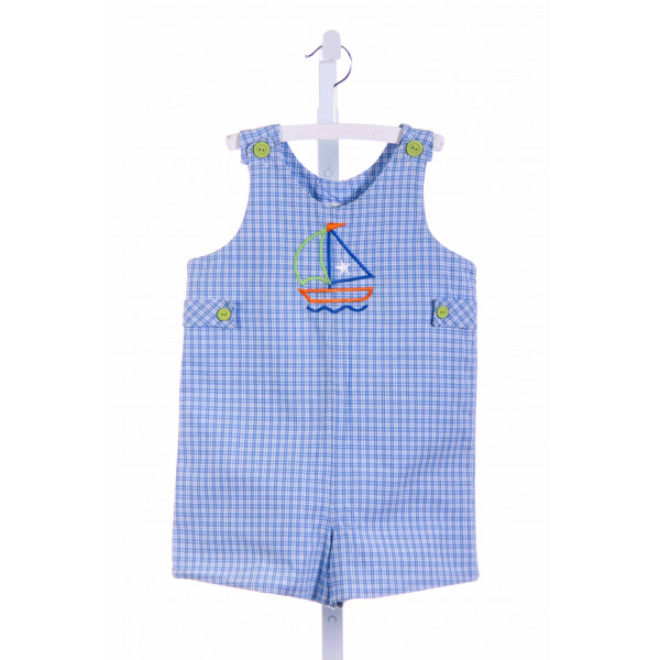 CHEZ AMI  BLUE  PLAID  JOHN JOHN/ SHORTALL