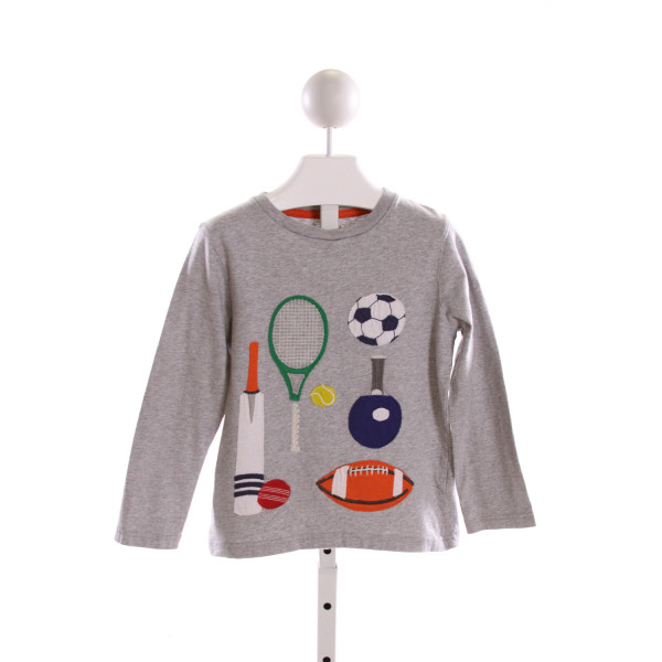 MINI BODEN  GRAY   PRINTED DESIGN KNIT LS SHIRT