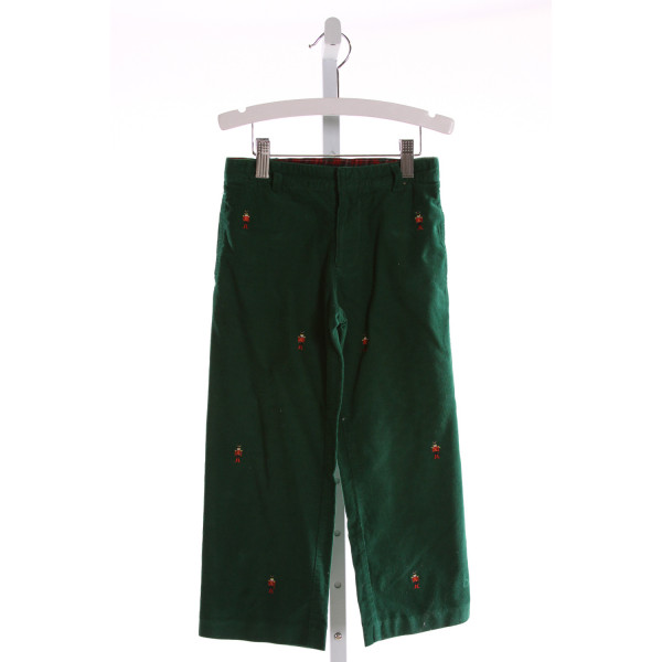 TF LAURENCE  GREEN CORDUROY  EMBROIDERED PANTS