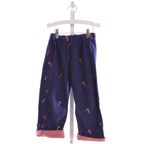 SMOCKINGBIRD  BLUE CORDUROY  EMBROIDERED PANTS
