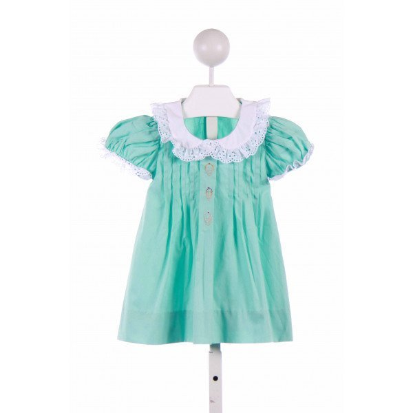 BENOIT & MATISSE  GREEN   EMBROIDERED CASUAL DRESS