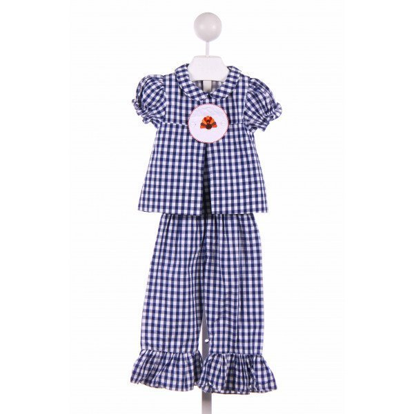 SMOCKING BUG  BLUE  GINGHAM  2-PIECE OUTFIT