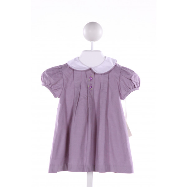 PIXIE LILY  PURPLE CORDUROY  EMBROIDERED DRESS